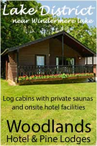 image of woodlenads hotel and pine lodges in the lake district.