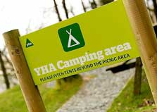 image of the lake district campsite sign at Buttermere