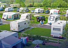 image of caravans and tents for camping in the Lake District at Lakeland caravan site