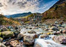image of the stream beside the Lake District campsite at Helvellyn