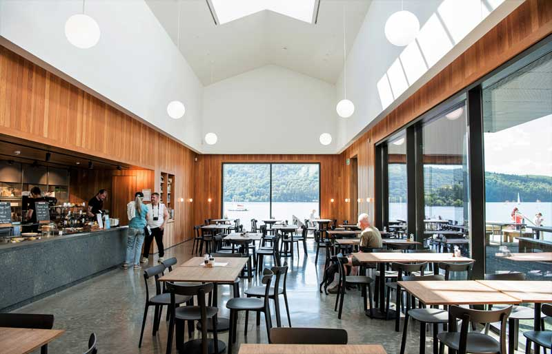 image of the interior of Windermere Jetty Cafe in the Lake District