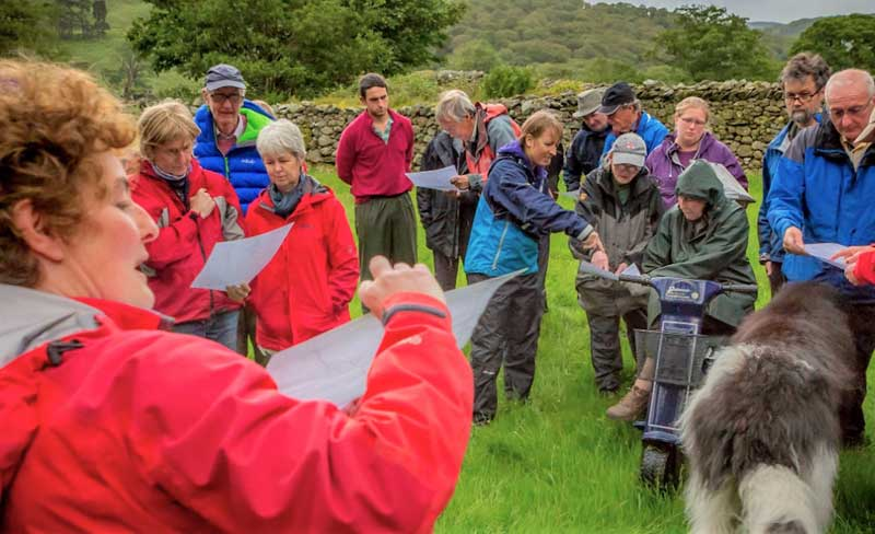 image of walkers on a National Trust walking event in the Lake District