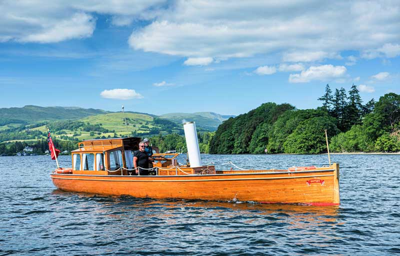 image of Osprey, a steam launch at Windermere Jetty Steamboat Museum attraction in the Lake District