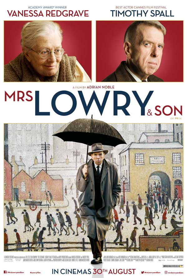 image of film poster for Mrs Lowry and Son showing at the Alhambra, Keswick, the Lake District