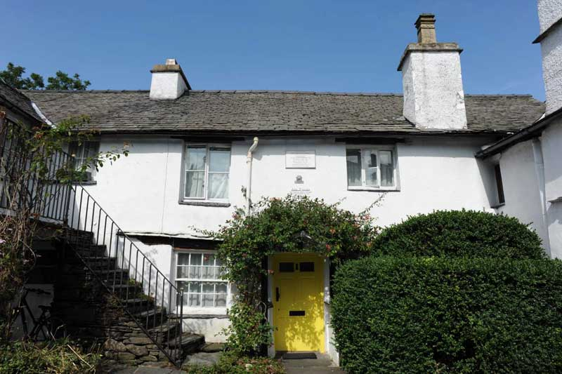 image of Ann Tyson's cottage in Hawkshead where William Wordsworth lodged