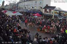 image of the Market Place from the Visit Cumbria Keswick webcam