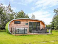 image of an ensuite camping pod in the lake district