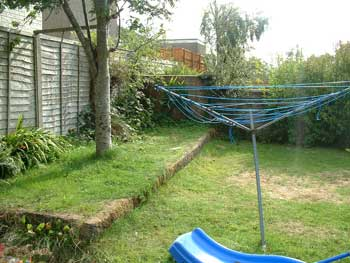 image of a before pic of a garden in Cockermouth