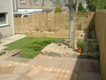 image of a newly laid patio in Cockermouth
