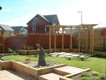 image of a pergola and patio in a Cockermouth garden