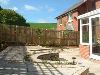 image of a newly laid patio garden in Cockermouth
