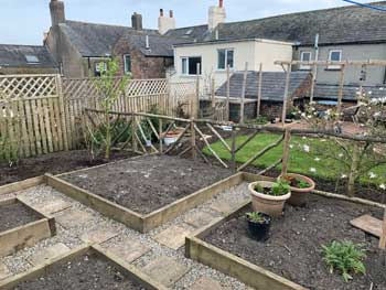 image of raised beds created by David Bell Cockermouth Gardening services