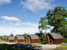 image of camping pods on a Lake District Holiday Park