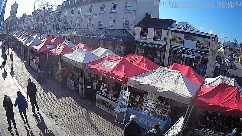 image of the Thurday market in Keswick in March 2020