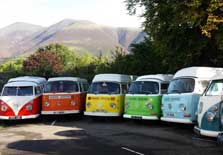 image of rainbow campervan hire in the lake district