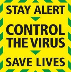 image of stay alert poster during coronavirus crisis