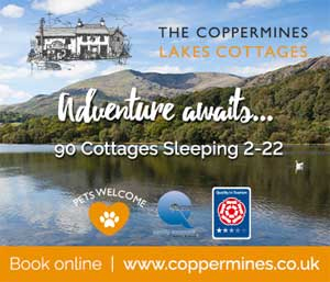 image of lake district cottages at the coppermines in Coniston