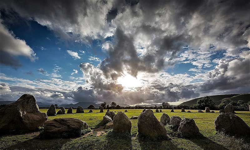 image of castlerigg stone circle, as visitor attraction for a Lake District staycation