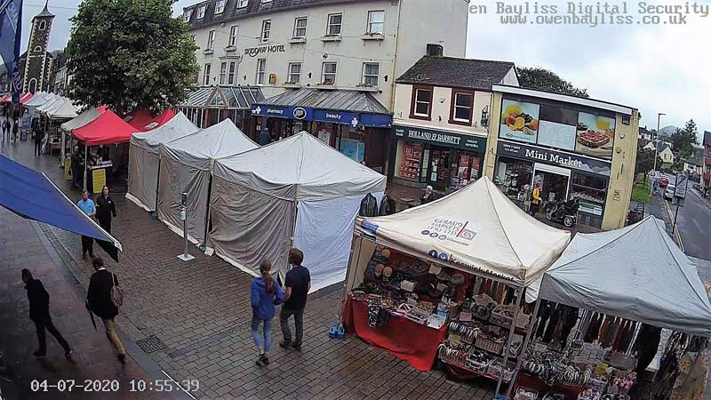 keswcik market reopens on the 4th of july after coronavirus lockdown in the Lake District