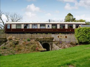 image of an converted railway carriage romantic cottage for two in the Lake District