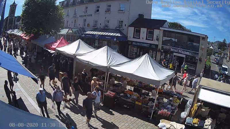 image of Keswick Market on the 8th of August after the Lake District coronavirus lockdown